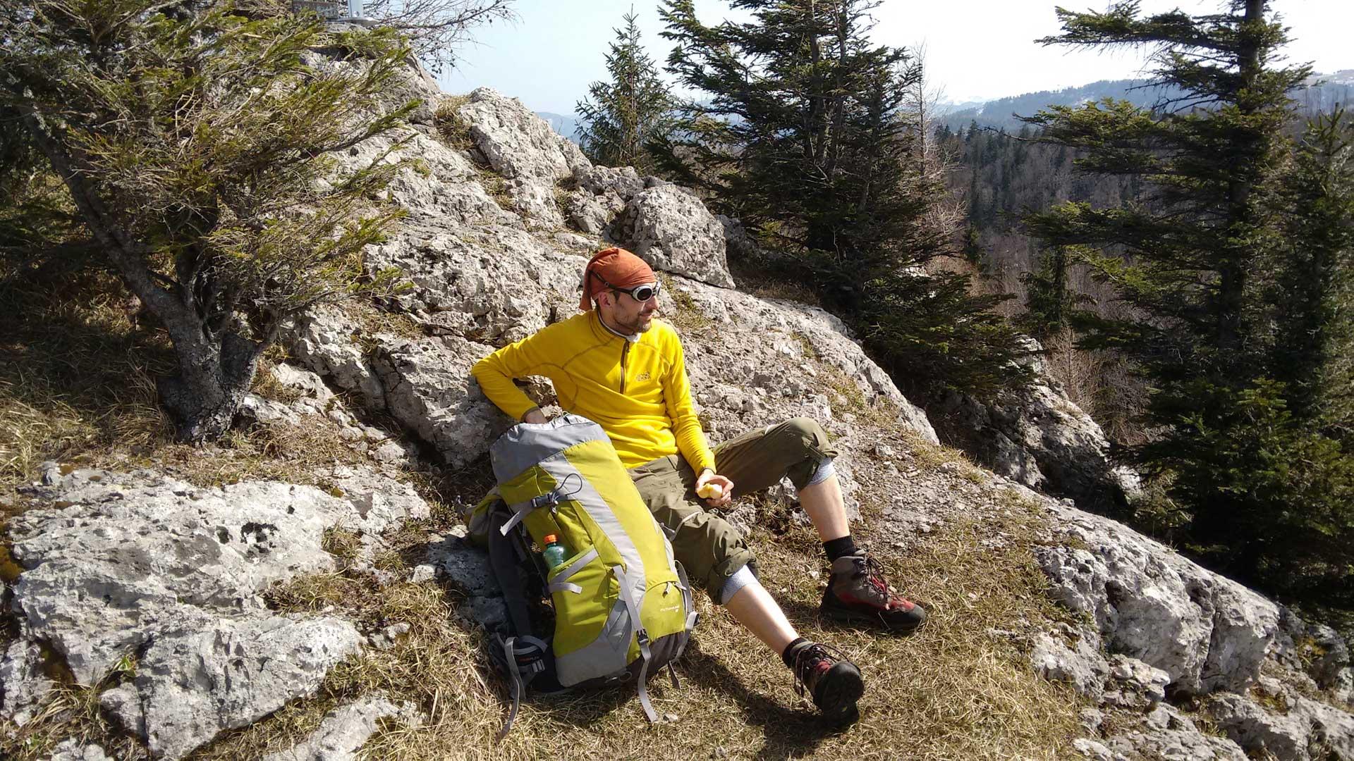 Michael liebt es auf den Gipfel der Alpen zu chillen
